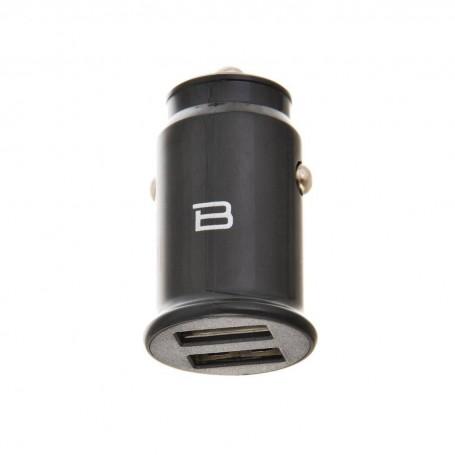 Cargador para auto 2 USB / 2.4 Amp Negro Bytech