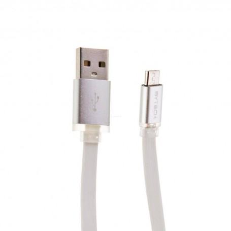 Cable micro USB con luz LED Bytech