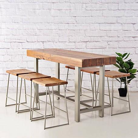 Mesa desayunador con bancos Logan Haus