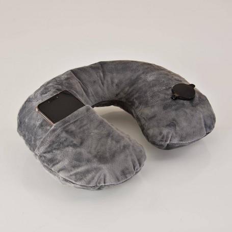 Almohada inflable para viaje con bolsillo Travelon