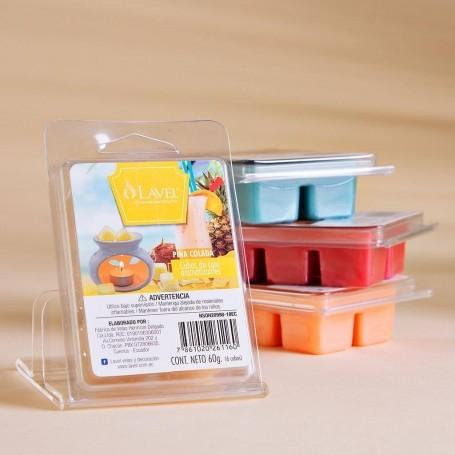 Juego de 6 cubos de cera aromarizantes para difusor Piña Colada