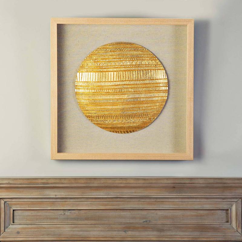 Cuadro con marco Aplique Sol Dorado