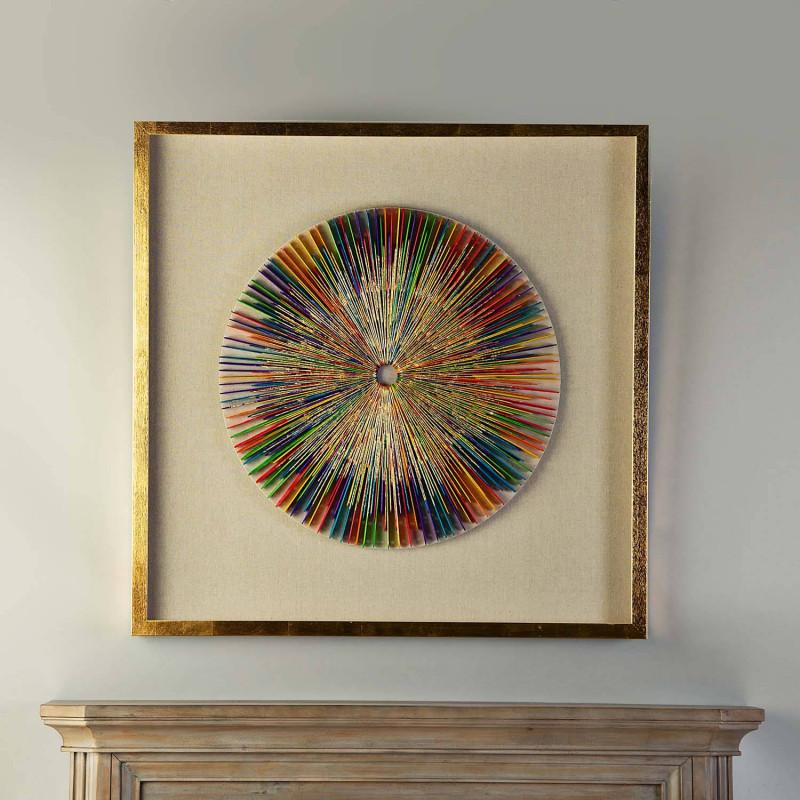 Cuadro con marco Aplique Círculo Multicolor