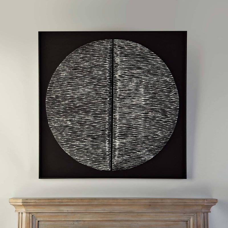 Cuadro con marco Aplique Sol Línea Silver