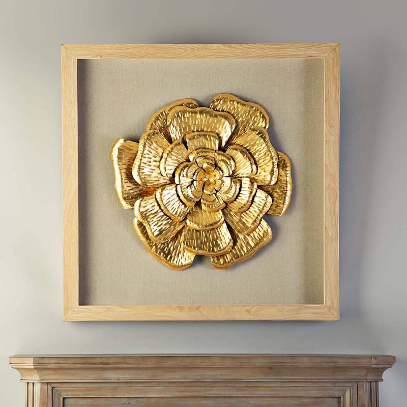 Cuadro con marco Flor Dorado