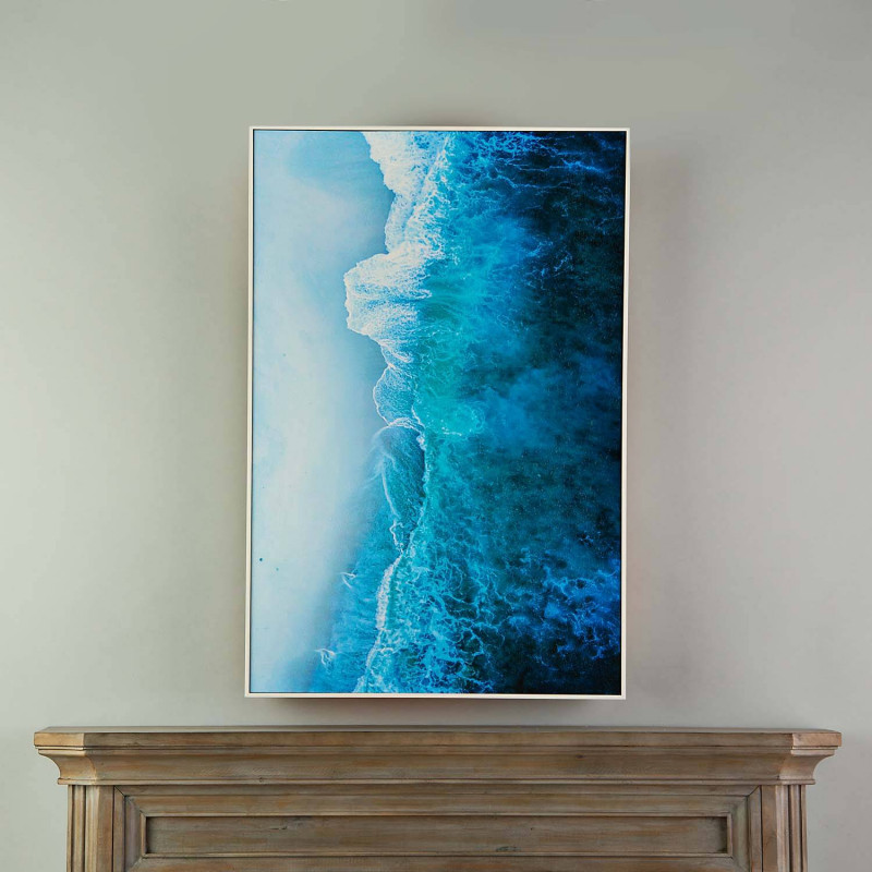 Cuadro con marco Mar Azul