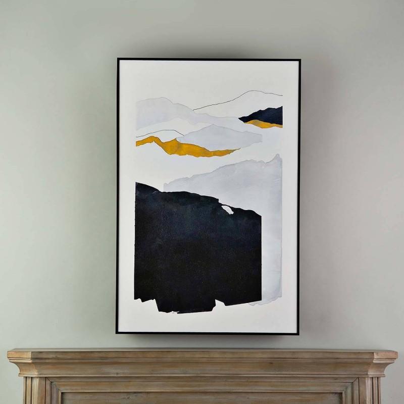 Cuadro con marco Abstracto Dorado / Negro