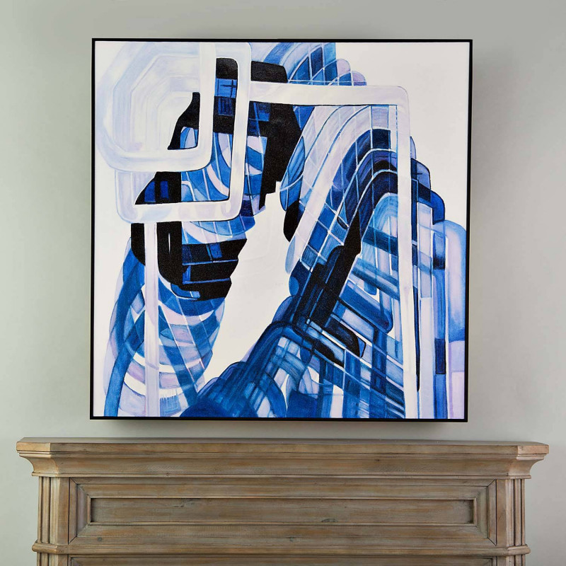 Cuadro con marco Azul Abstracto