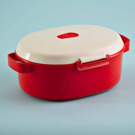 Repostero con vaporera para microondas 2.6 ml / 87.9 oz Let's Microwave