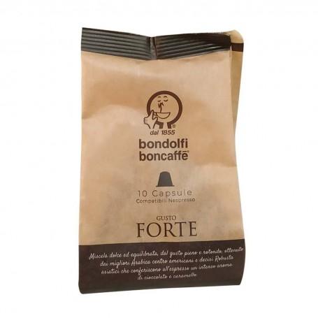 Juego de 10 cápsulas de café Forte Bondolfi Boncaffe