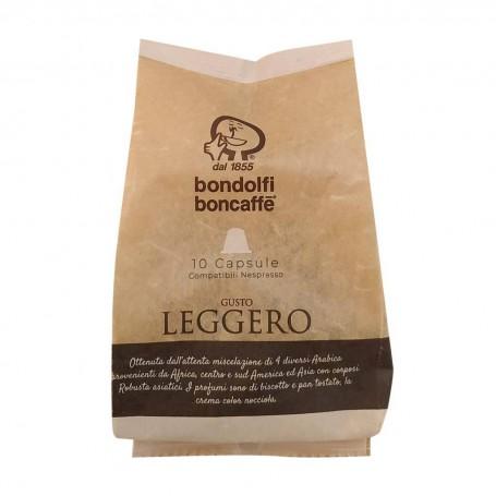 Juego de 10 cápsulas de café Leggero Bondolfi Boncaffe
