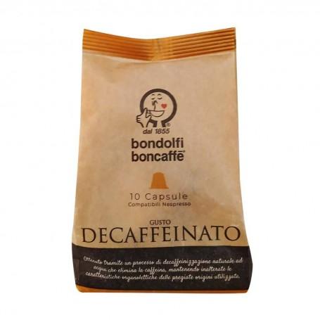Juego de 10 cápsulas de café Decaffeinato Bondolfi Boncaffe