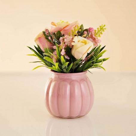 Arreglo Floral Mini Rosas con maceta