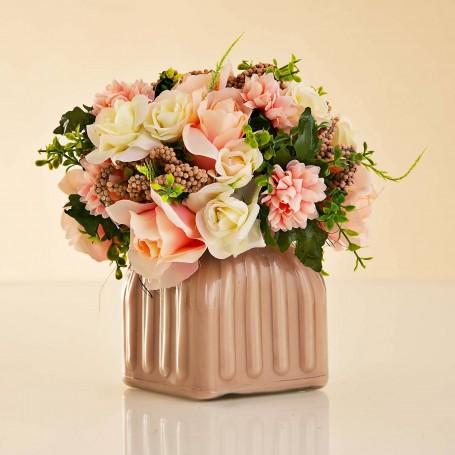 Arreglo Floral Rosas con maceta