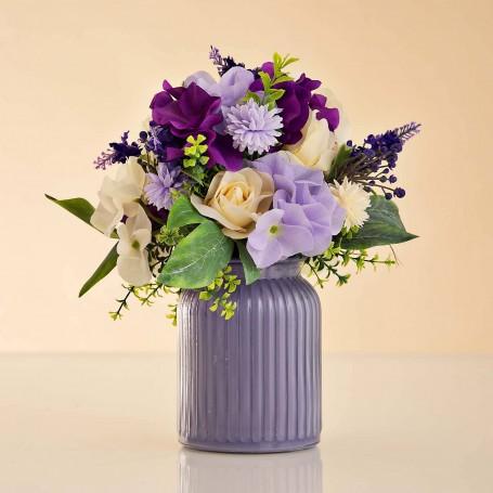 Arreglo Floral Morado / Lila / Beige con maceta