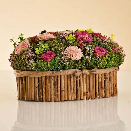 Arreglo Floral Rosado / Lila con caja