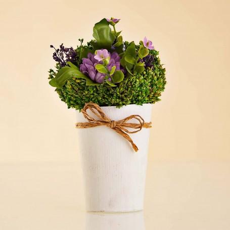 Arreglo Floral Mini Morado con maceta / imanes