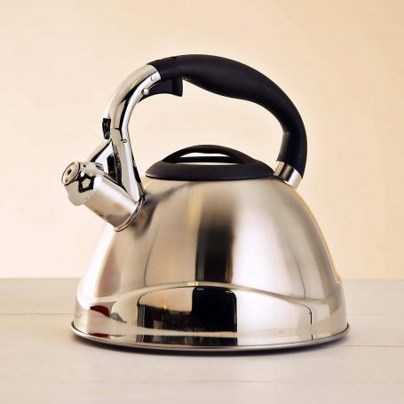 Tetera de acero inoxidable para inducción 3 L Silver Mate / Brillo