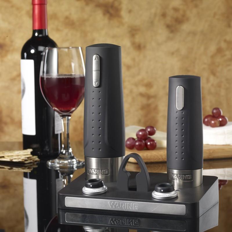 Destapador para vino eléctrico con preservador Waring