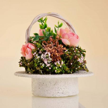 Arreglo Floral Mini con canasta