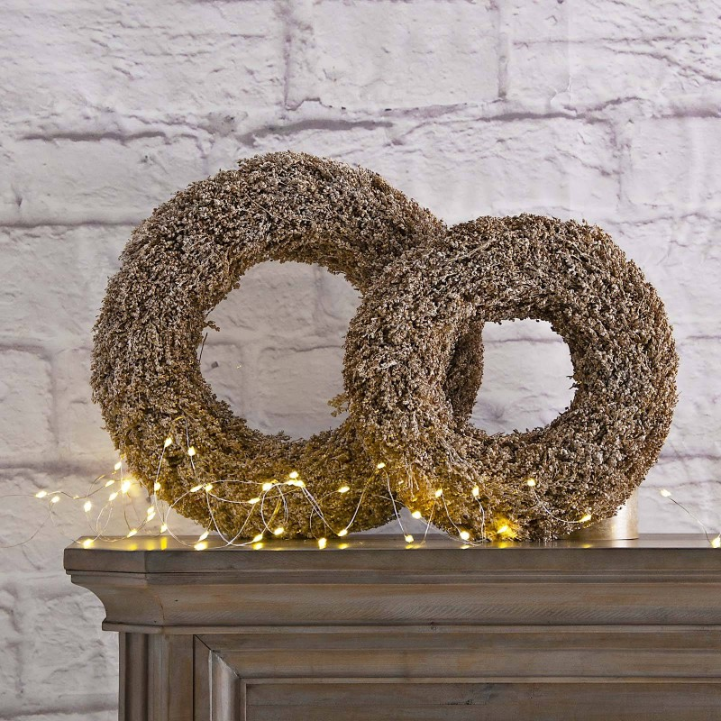 Corona de Navidad Flor Escarcha