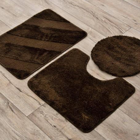 Juego de 3 alfombras para baño Líneas