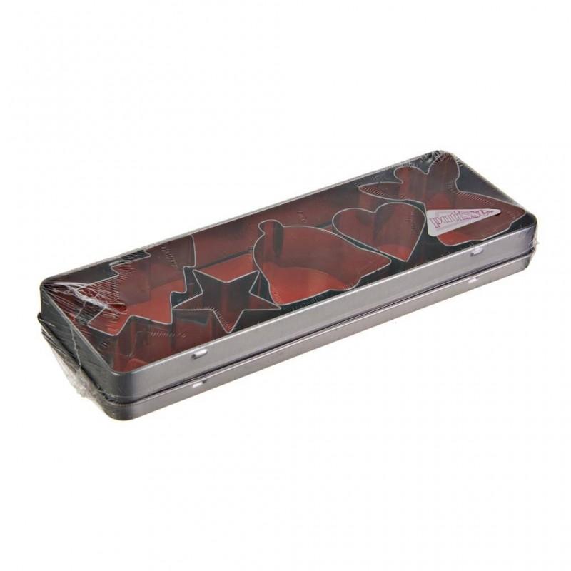 Juego de 5 cortadores para galletas en caja Diseño de Navidad Accessories Patisse