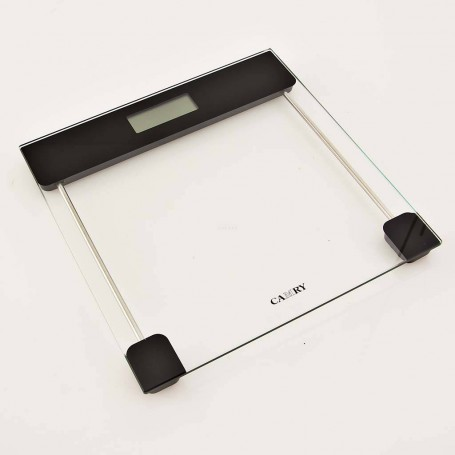 Balanza digital de vidrio para baño Negro Camry