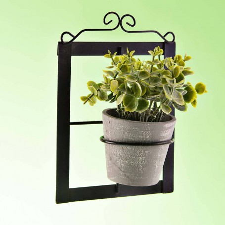 Planta artificial con aplique de pared / maceta