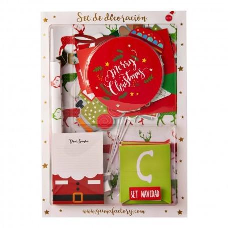 Decoración para Navidad 72 piezas