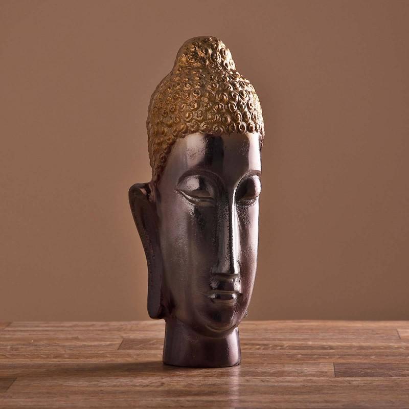 Escultura Cara Buda Haus