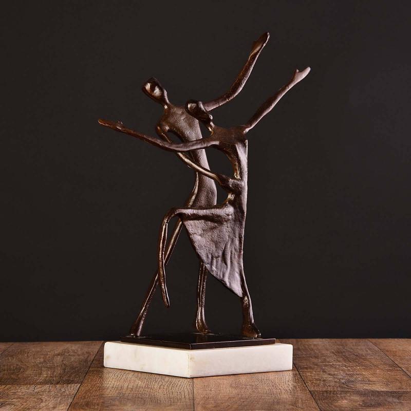 Escultura Pareja Bailarines con base Haus
