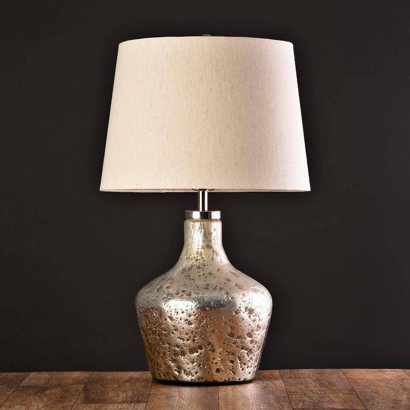 Lámpara de mesa Base Martillado Silver Haus