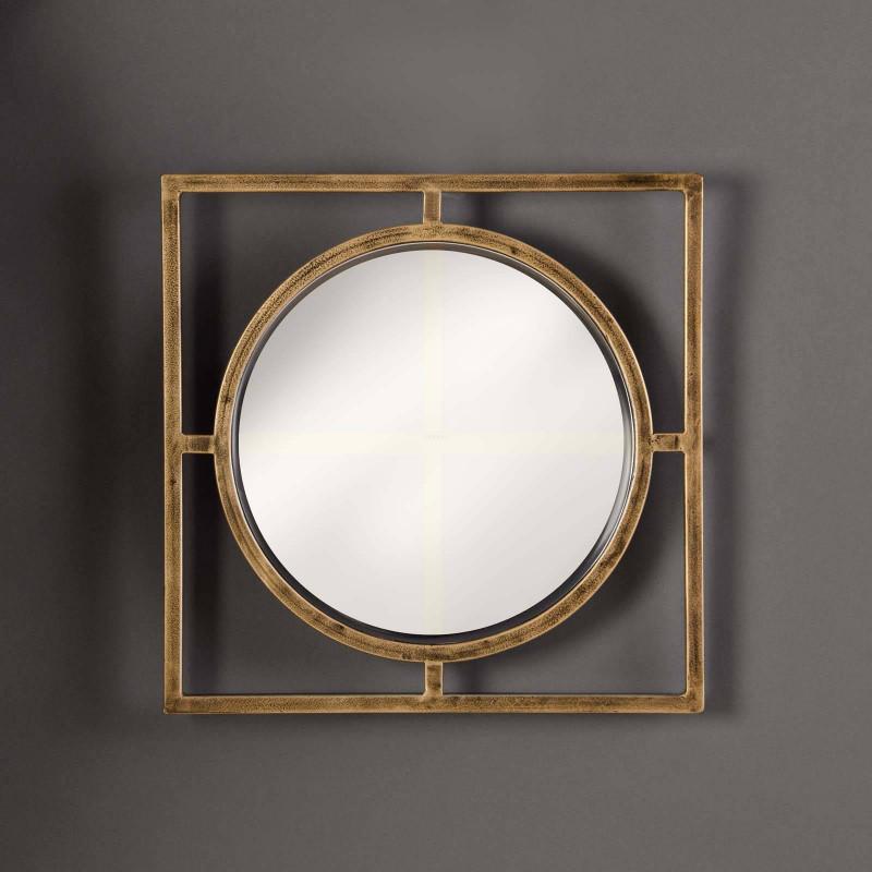 Espejo Dorado Geométrico Haus