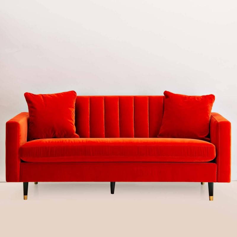 Sofá con cojines 2.5 puestos Coral Velvet