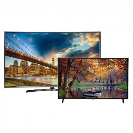LG TV LED digital ISDB-T UHD 65'' 65UK6350 + TV LED digital ISDB-T Smart FHD 43'' 43LK5700