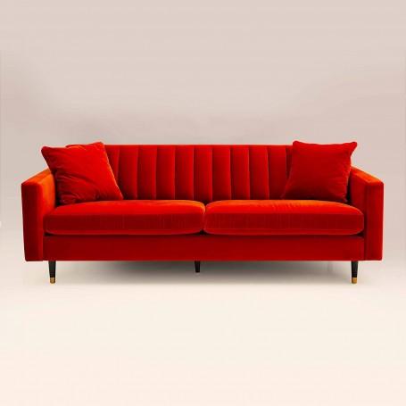 Sofá con cojines 3 puestos Coral Velvet