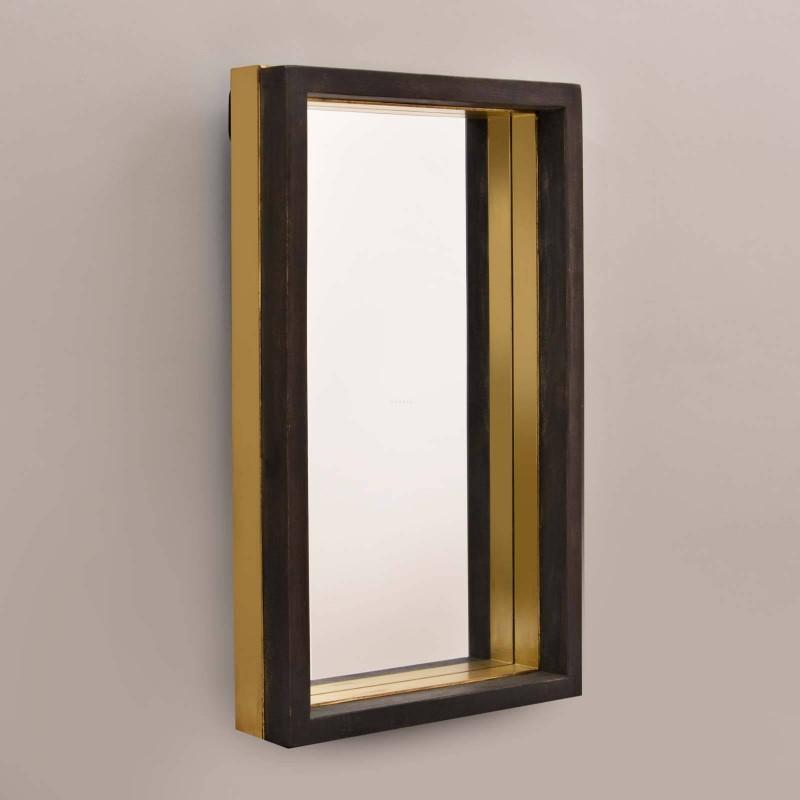 Espejo con marco Negro / Dorado Haus