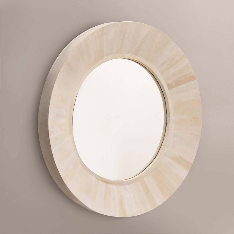 Espejo con marco Franjas Blanco Wash Haus