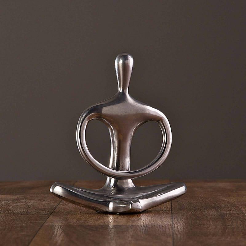 Figura Hombre Yoga Silver Haus