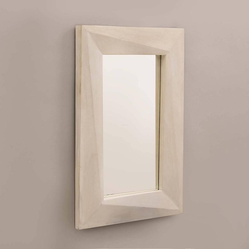 Espejo rectangular con marco Blanco Wash Haus