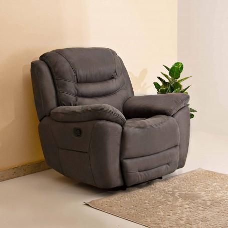 Sofá reclinable de tela 1 puesto