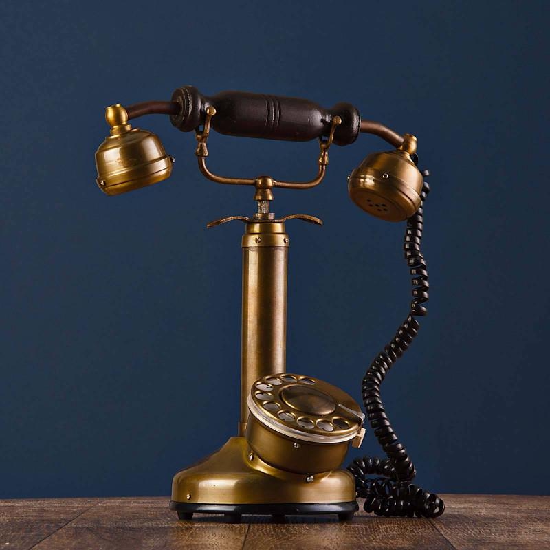 Adorno Teléfono Antique Haus