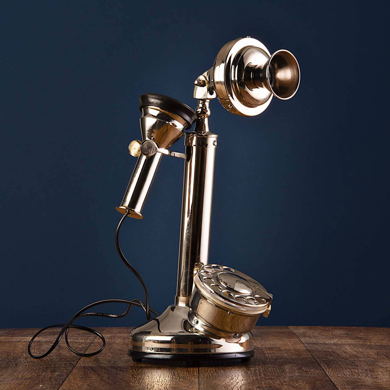 Adorno Teléfono Bocina Silver Haus
