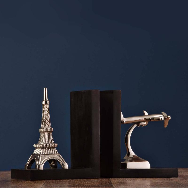 Juego de 2 apoya libros Avión / Torre Eiffel Haus