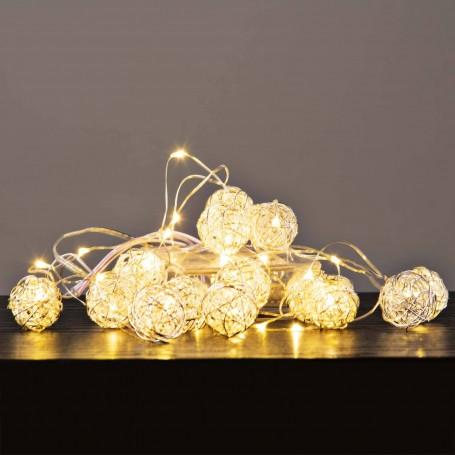 Guirnalda con 30 luces LED Esfera a batería Haus