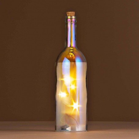 Botella decorativa con luz Estrellas Haus