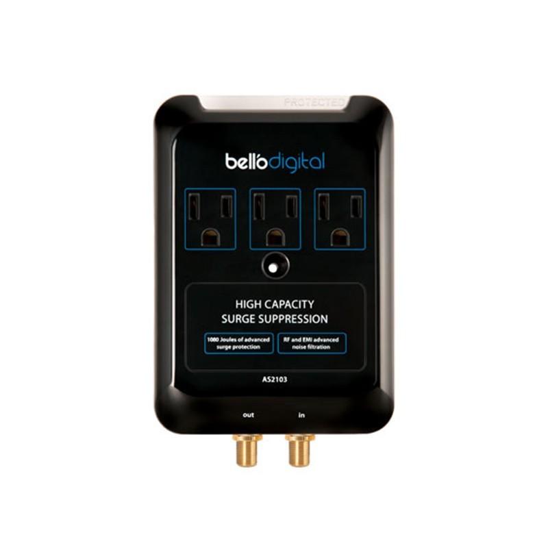 Supresor de voltaje 3 tomas luz indicadora Bello Int