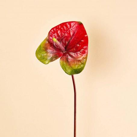 Flor Anturio Poliéster / Plástico / Alambre Haus