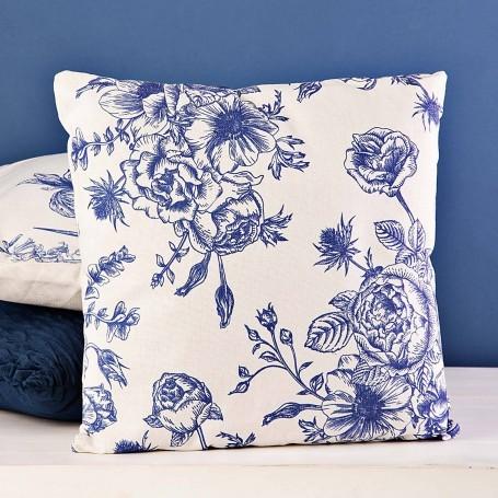 Cojín relleno Garden Blanco / Azul Haus
